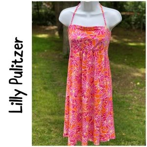 Lilly Pulitzer floral cotton strapless dress